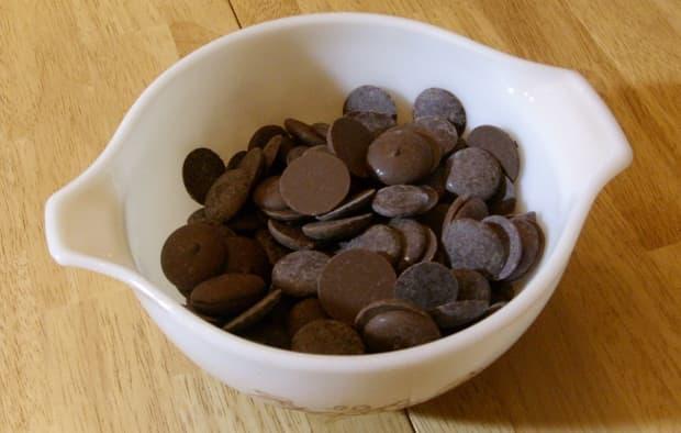 Dark chocolate candy melts.