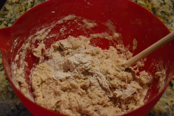 Mix dry ingredients with beer just until moistened. Scrape sides and turn dough into a greased loaf pan.