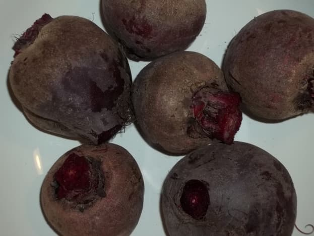 Beets ready to be cooked.