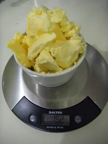 Weigh up the butter