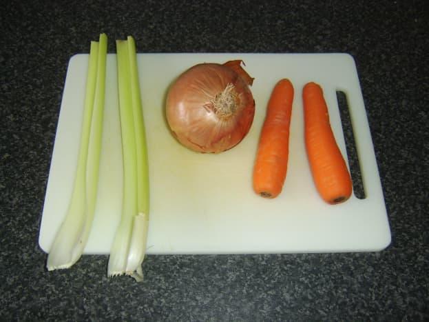 Vegetables for Ham Stock