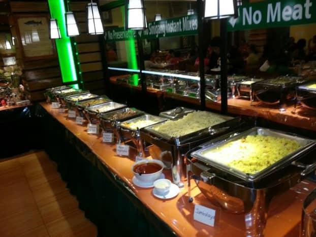 A sampling of La Traviesa's buffet offerings