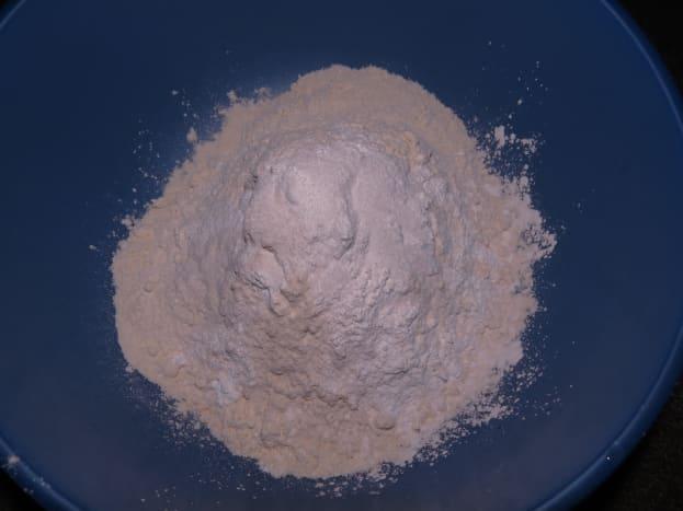 Mix together flour, baking powder, and salt first, stirring well.