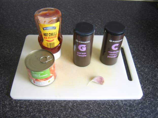 Bhuna style sauce ingredients