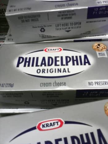 Packaging of Philadelphia Original Cream Cheese