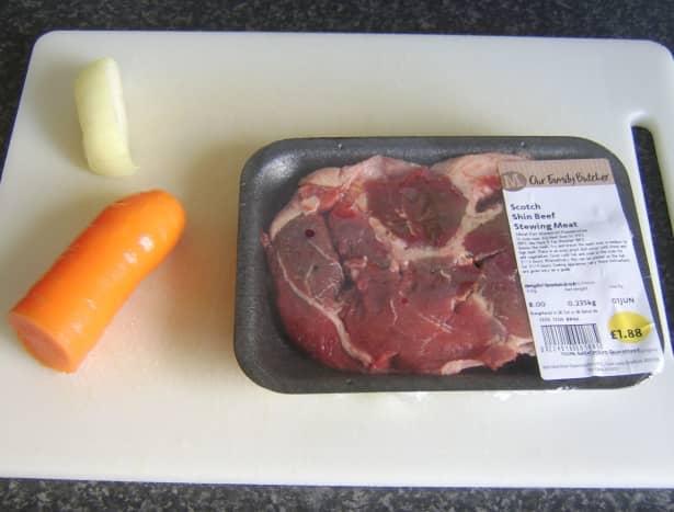 Simple beef stew ingredients