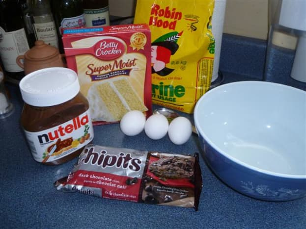 Just a few ingredients are needed to make these muffins.