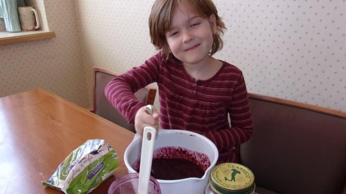 Kids enjoy helping to make this jam.