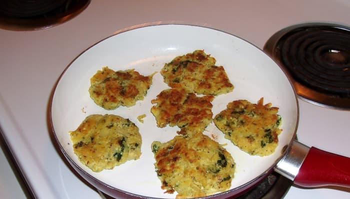 "These potato and ""egg"" pancakes are gluten-free."