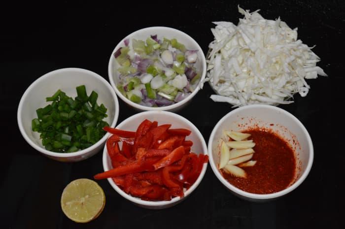 Step one: Prepare the ingredients.