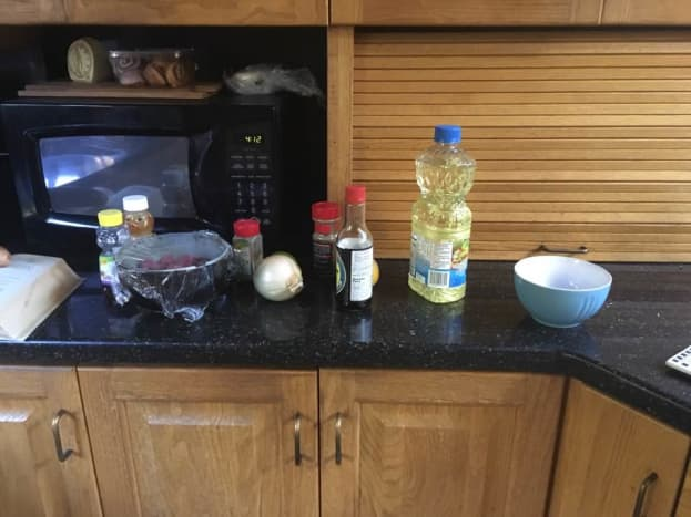 Ingredients for the lamb and marinade