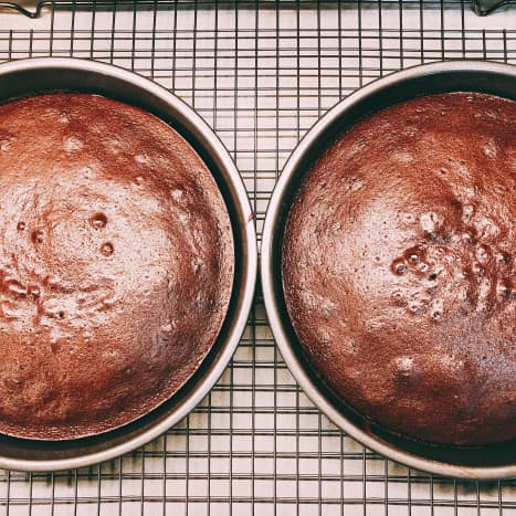 The cakes are baked.