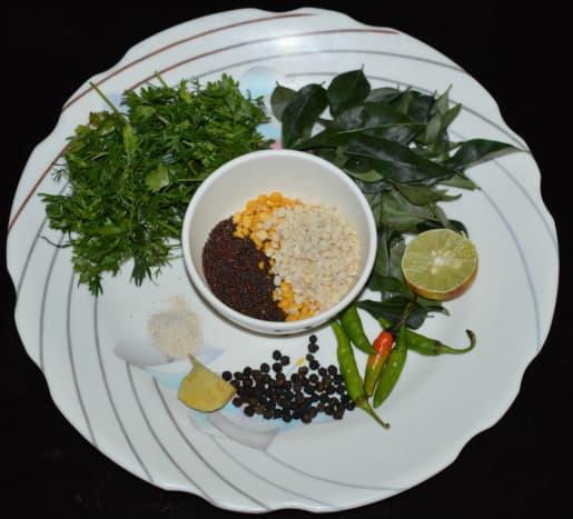 Ingredients for making Instant Upma Mix