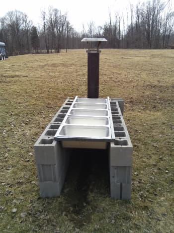 Outdoor evaporator (front view).