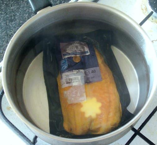 Boil in the bag kippers