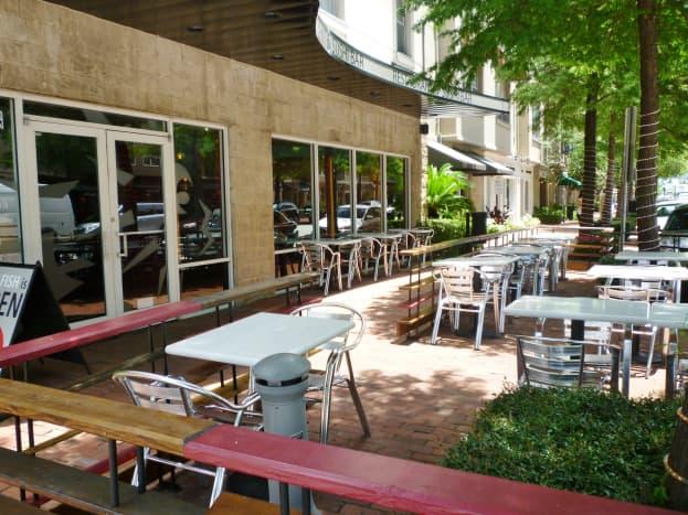 Exterior dining area
