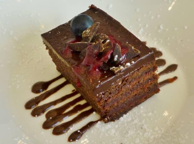 Flourless six-layer chocolate cake
