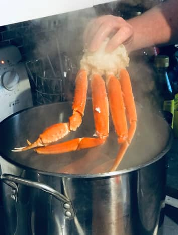 Time to cook the crab