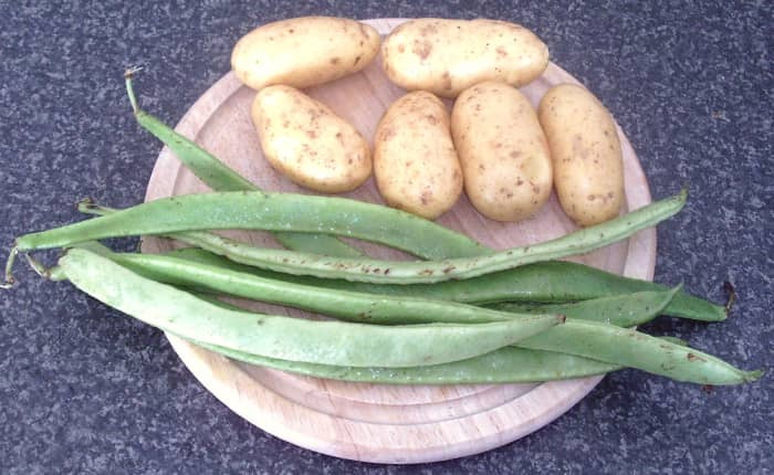 New potatoes and green beans