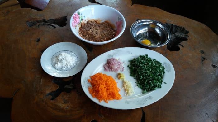 Ingredients for lumpiang Shanghai