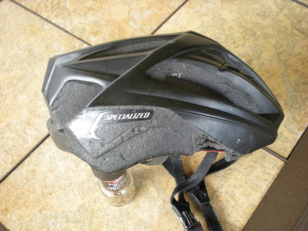 Side view of the Specialized helmet I was wearing when I crashed in early 2010