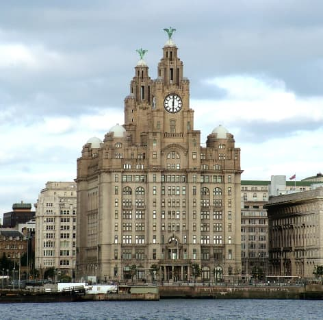 Royal Liver Building, Liverpool: This historical building was fortunately saved from destruction in WW2.
