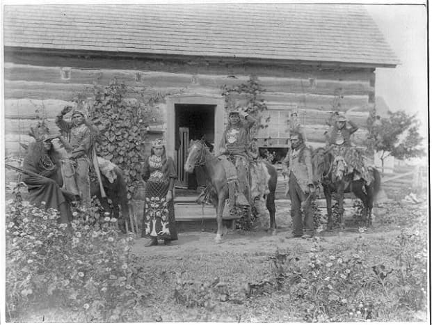 St. Regis Indian Show Company, 1894.