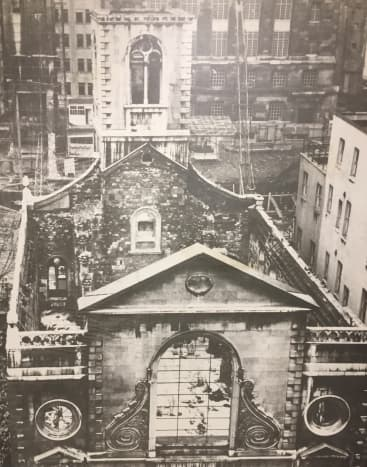 St. Mary's Church heavily damaged by WWII bombing