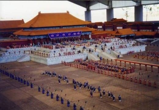 Scale models of the buildings in the Forbidden City in China