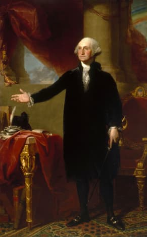 Painting of George Washington, painted in 1796.