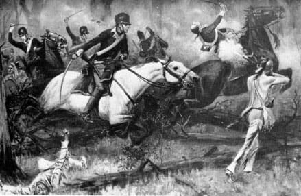 From Harper's magazine 1896 illustration of the Battle of Fallen Timbers.
