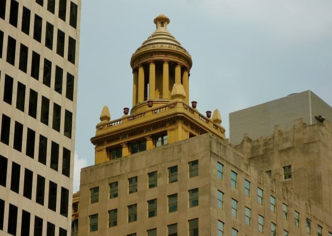 Top of the Niels Esperson Building