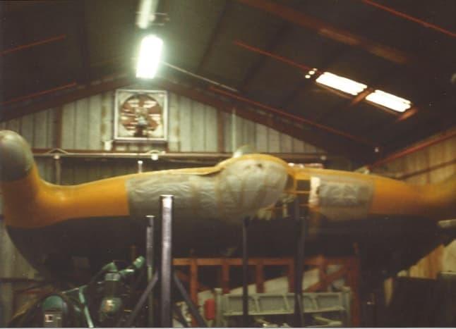 A Vought V-173 at the Paul E. Garber facility, Silver Hill Maryland, circa 1990.