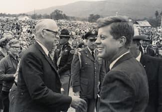 John F. Kennedy and Senator Kerr