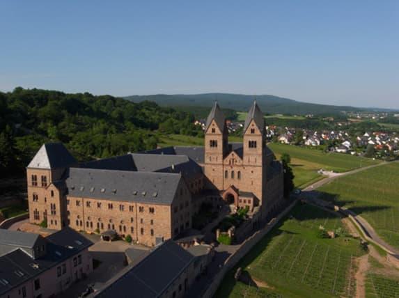 The Benedictine Abbey of Eibingen, founded by St. Hildegard