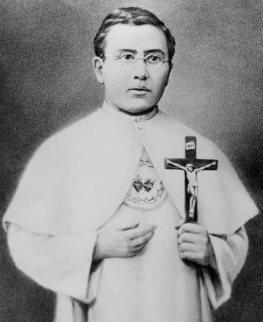 Damien as a twenty-three year old  seminarian