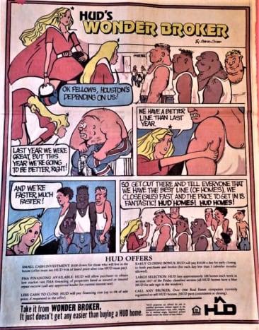 Wonder Broker series of HUD ads