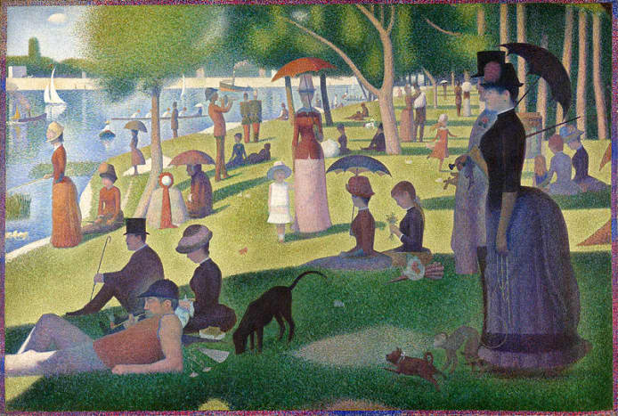 """""""Un dimanche à la Grande Jatte"""" (""""A Sunday on La Grande Jatte""""), Georges Seurat, 1886"""