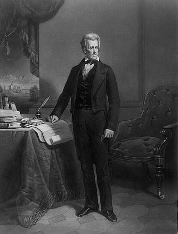 A depiction of President Andrew Jackson.