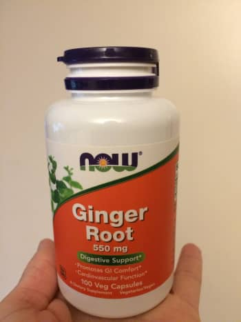 Ginger root capsules by NOW foods
