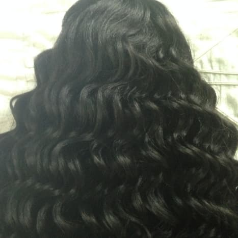 This is the curl pattern of the Hawaiian Curly Wig. These curls transform into big glamorous hair when you play with them.