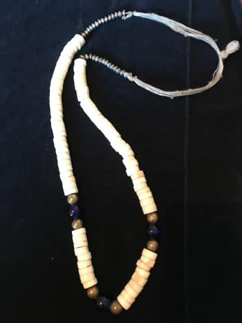Primitive Bone and trade bead necklace