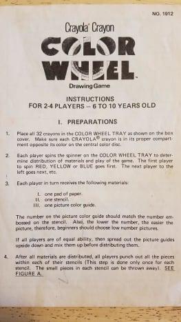 Crayola Crayon Color Wheel Drawing Game Instructions
