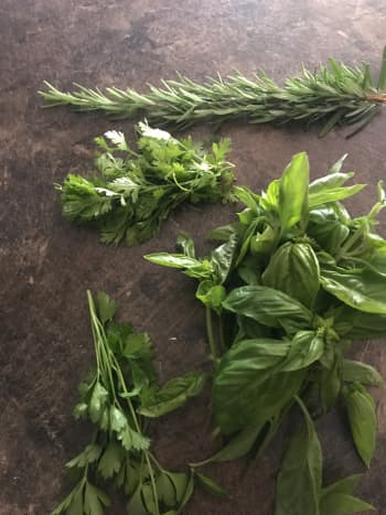 Fresh herbs from my garden.