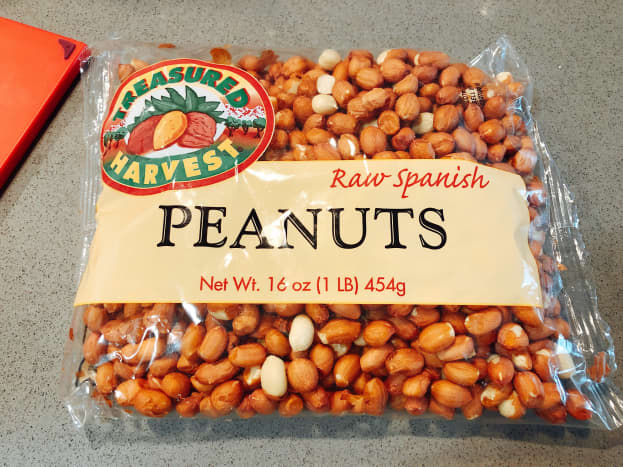 I bought a bag of peanuts, but I didn't use it all. Save the remaining peanuts in an airtight container and store at room temperature.