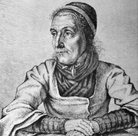 Viehmann Contributed Forty Fairy Tales to  the Brothers Grimm (Artist: Ludwig Emil Grimm).
