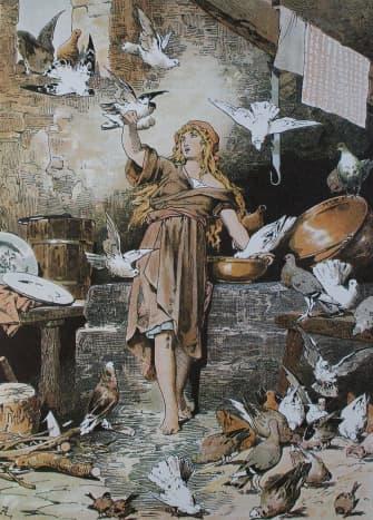Cinderella Illustration by Alexander Zick (1845–1907)