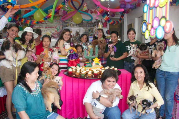 80 humans and 40 dogs were invited to the party.