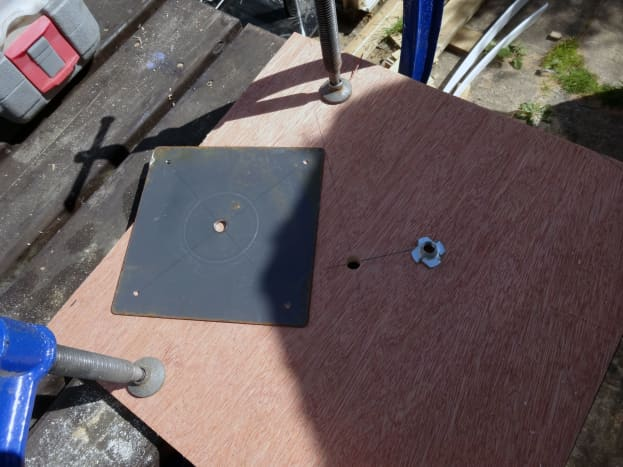 Strengthening the fixings for the top platform with a metal plate.