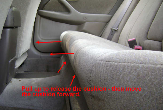 Camry rear seat cushion removal
